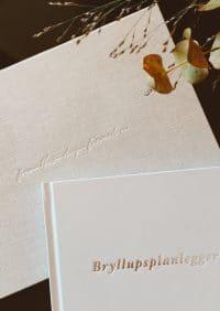 Var helt egen bryllupsplanlegger og gjestebok til bryllup er den perfekte match for fine, minnerike detaljer til bryllupet!